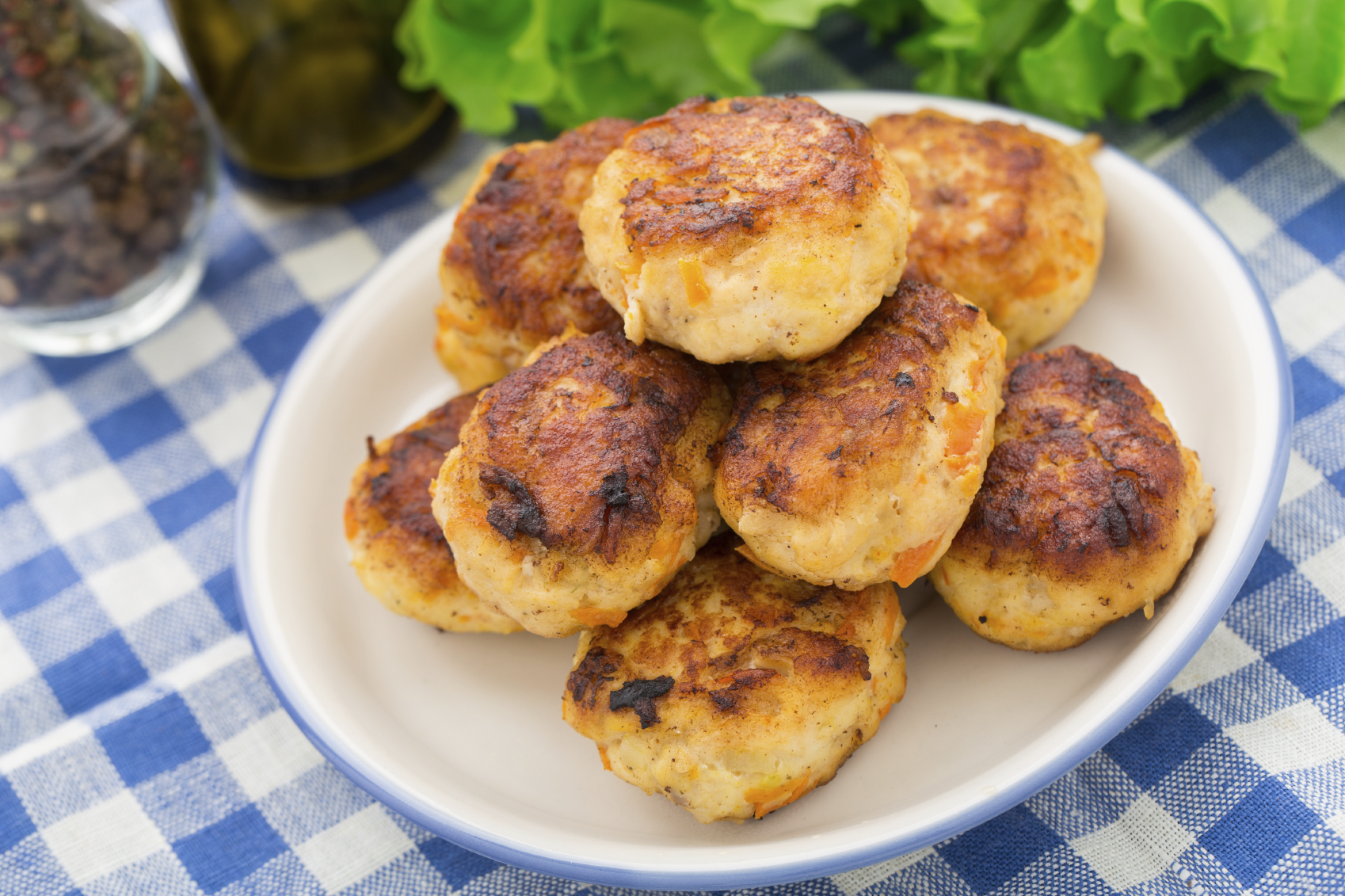 Chicken and apple patties