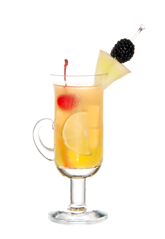 Friuty Mocktail drink with peach shnapps