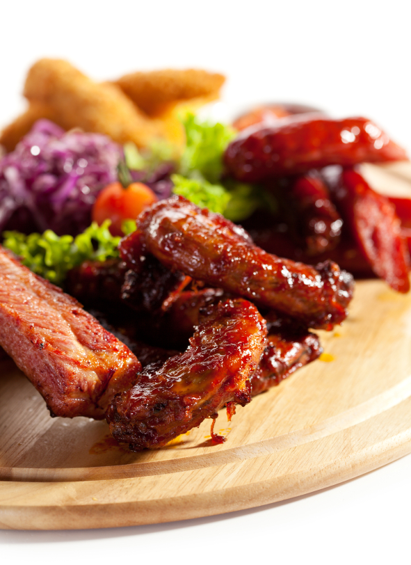 Recipe BBQ ribs and sausages