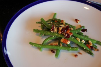 Recipe Green beans with almonds