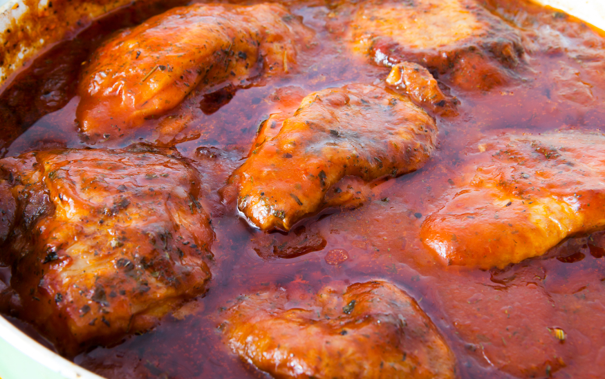 chicken in tomato sauce