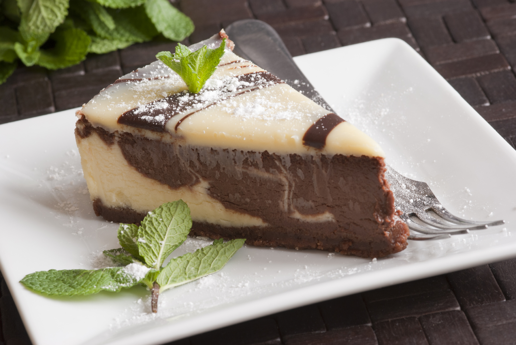 iStock photo Recipe: Mint-chocolate cheesecake