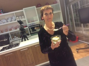 Evelyn Mifsud eating cherimoya The health benefits of a wonder fruit with super nutritional properties: Chermoya