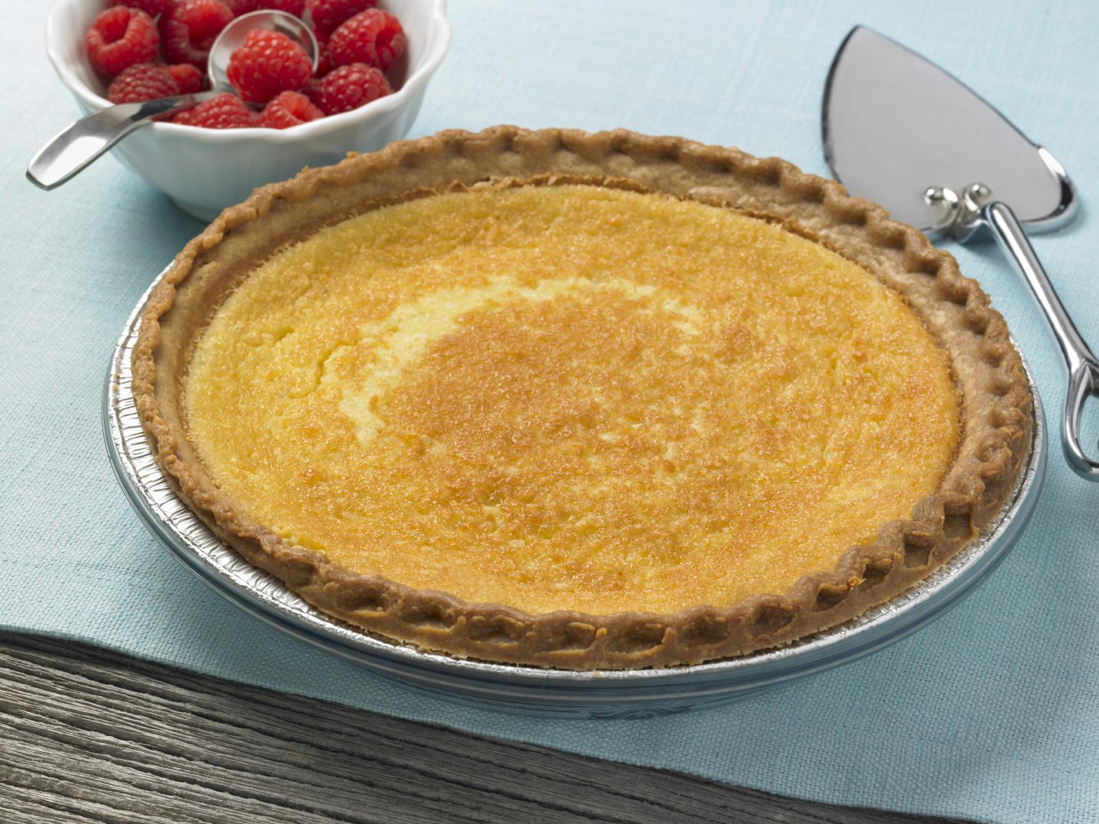 Torta ħelwa b'għaġina tal-polenta Polenta raspberry pie
