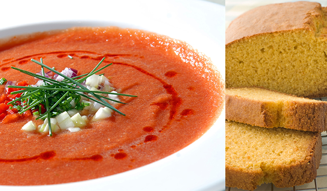 Recipe Capsicum spoup and polenta bread Riċetta: Soppa tal-bżar aħmar (capsicum) bil-ħobż tal-polenta
