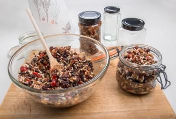 Recipe of mincemeat and oat portions Riċetta: Porzjonijiet bil-mincemeat u ħafur (oats)
