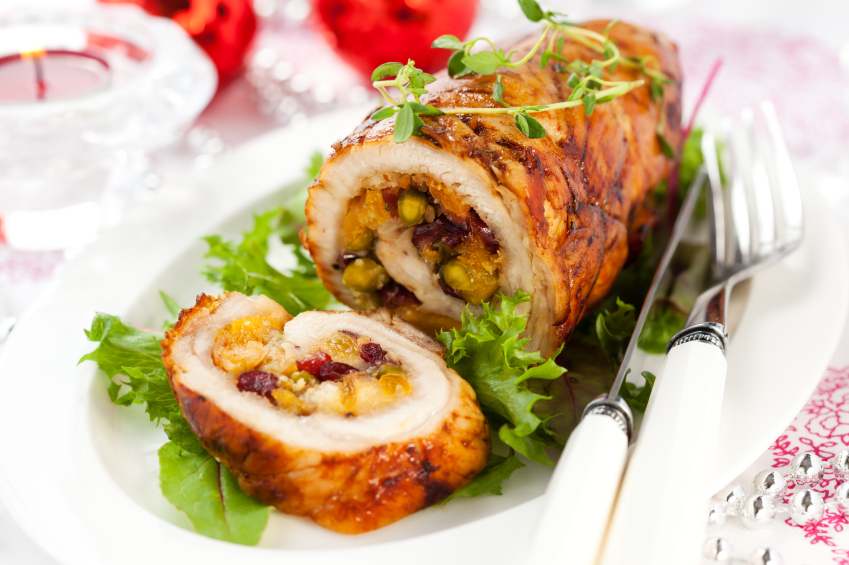 Recipe: Turkey breasts stuffed with walnuts and cranberries