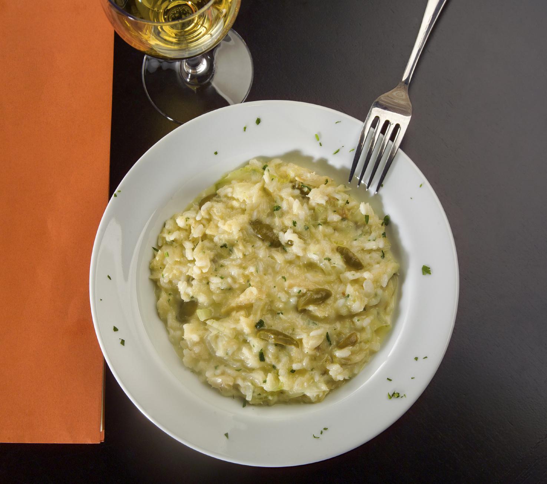 Olive and marrow risotto Risotto bil-qarabagħli u ż-żebbuġ