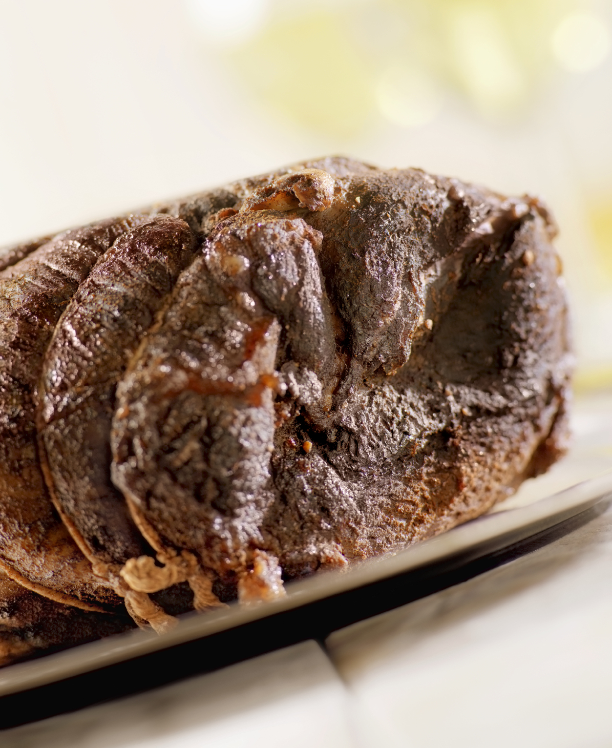 Roast beef with ginger, curry and raisins - Ċanga l-forn bil-kari, ġinġer u żbib