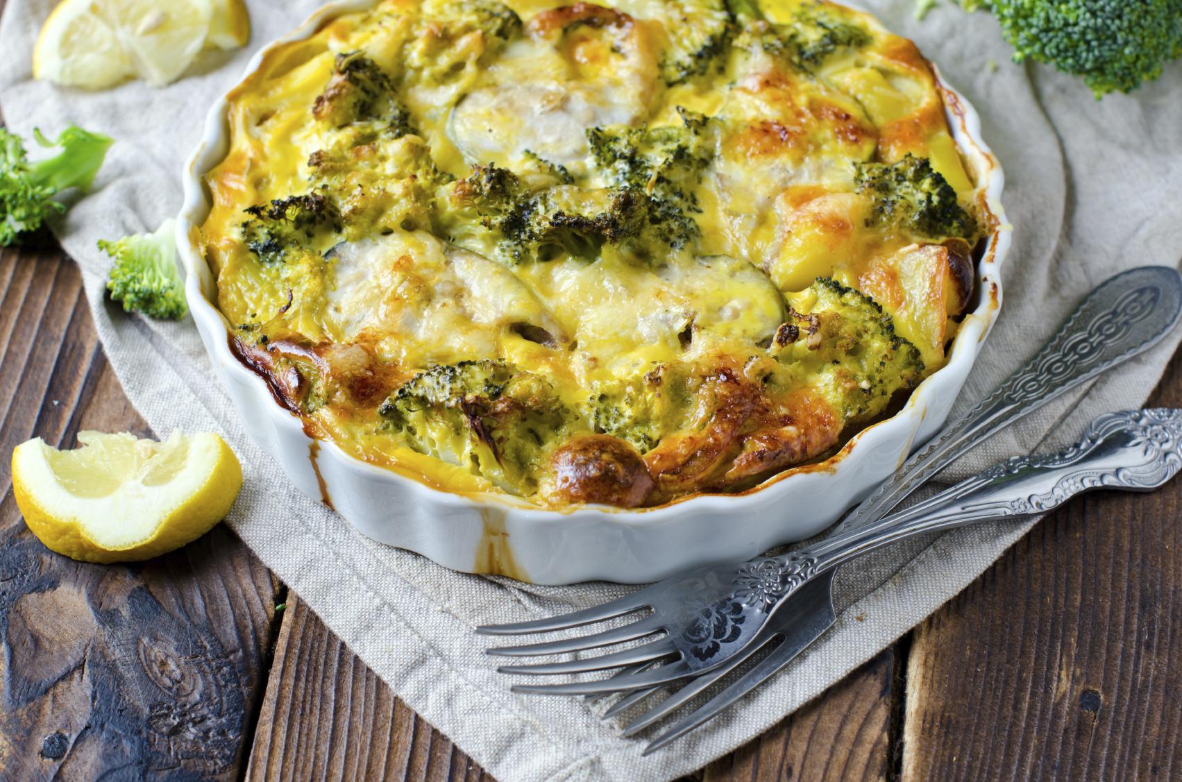 Recipe: Cheese and vegetable gratin Riċetta: Krosta bil-ġobon mimlija bil-ħaxix tal-istaġun