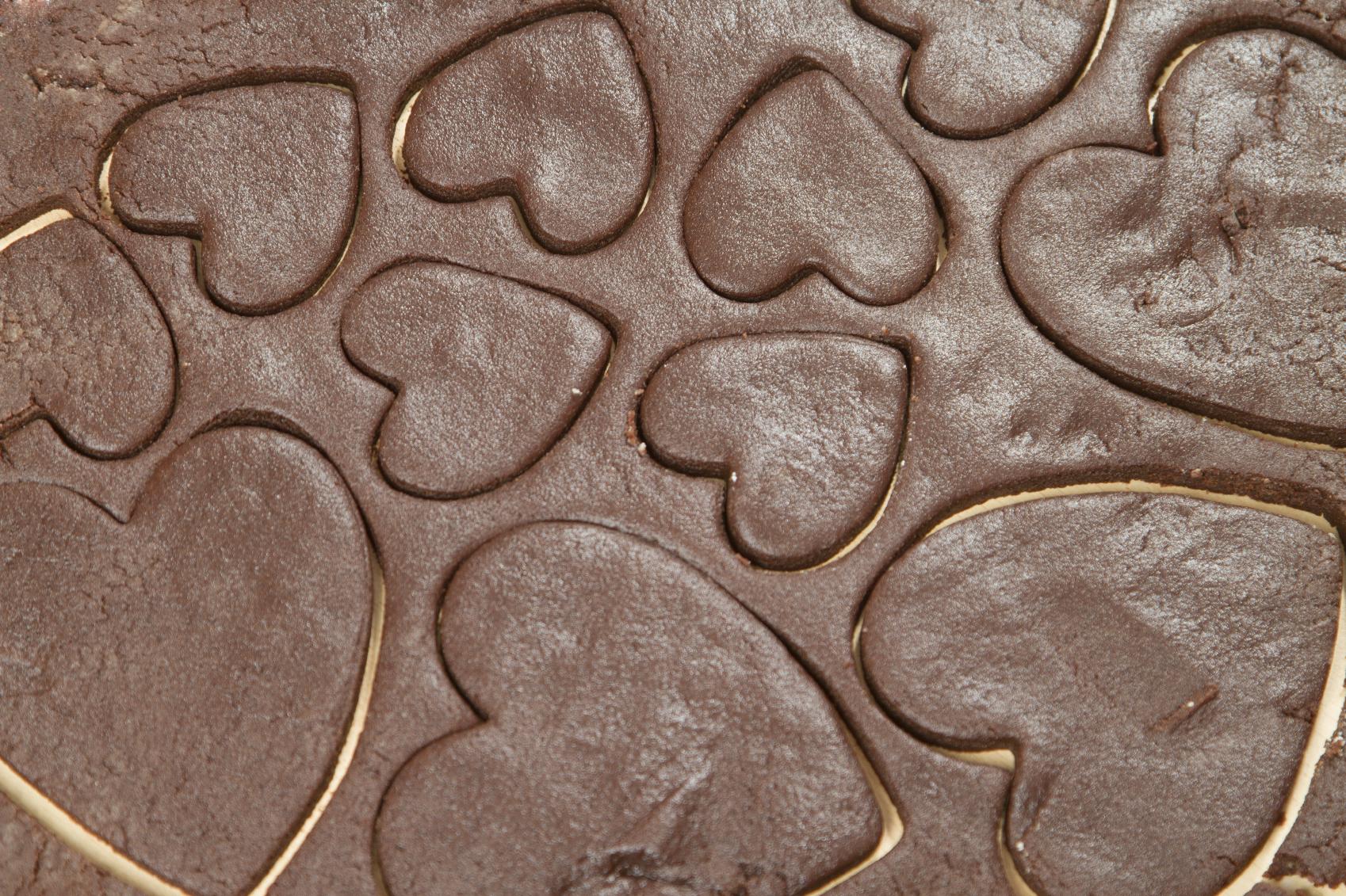 Heart shaped biscuits Riċetta: Qlub tal-gallettini f'żewġ kuluri