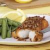 Cod with lemon zest and nuts: Merluzz b'qoxra ta' lewż u lumi