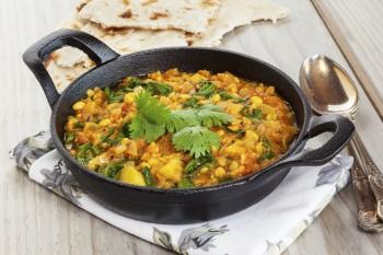 Riċetta:  Curry tal-ispinaċi u l-larinġ