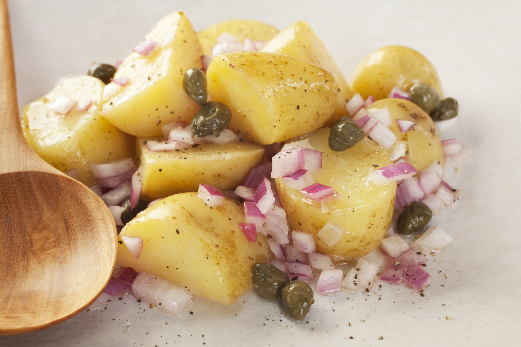 Potato salad with capers and mustard: Insalata tal-patata bil-kappar u l-mustarda