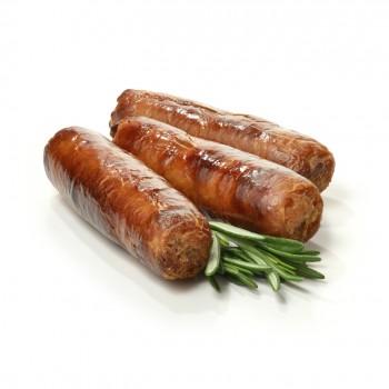 Hot sausage with feta cheese and grapes: Zalzett pikkanti bil-feta u l-għeneb