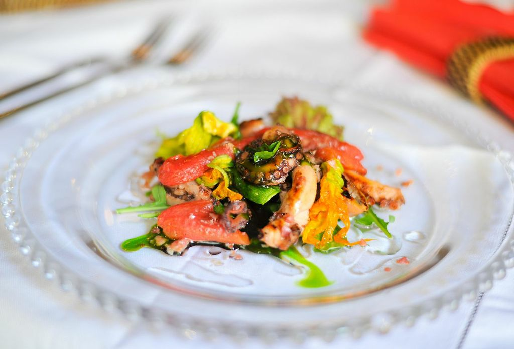 Octopus salad Photo by James Bianchi