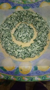 Sunflower spinach and ricotta pie by Stefania Tabone