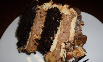 Snickers cheesecake cake by Corrine Cassar
