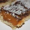 Caramel and chocolate shortbread bars by Elaine Gatt