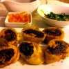 Venison roulade with creamed spinach and spicy red wine sauce by Marion Dilnutt