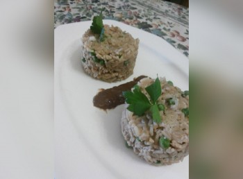Recipe: Chicken risotto with a salty rice & chocolate ganache