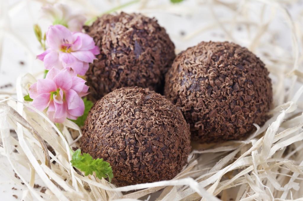 chocolate truffle in nest