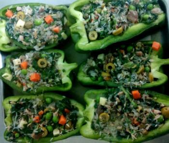 Recipe: Rice stuffed peppers al cartoccio