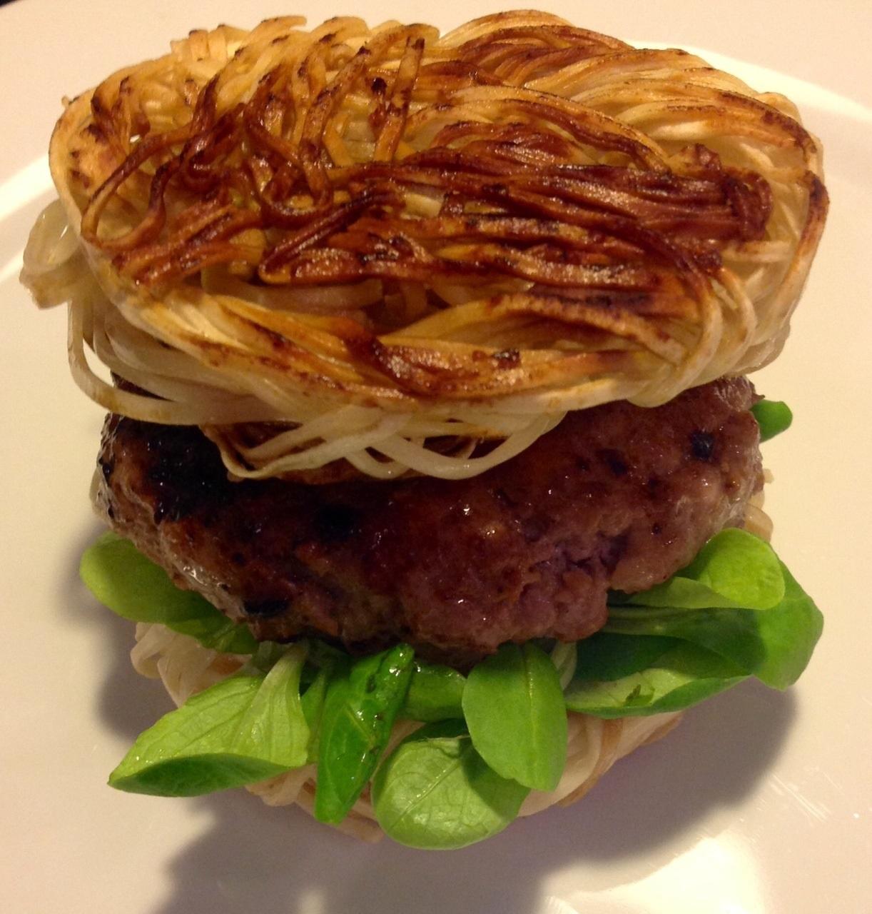 Ramen burger by Lea HoggRamen burger by Lea Hogg
