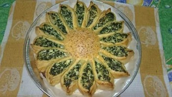 Recipe: Sunflower spinach and ricotta pie