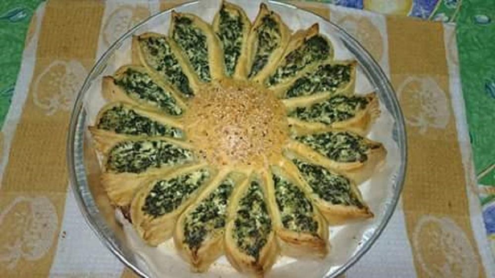 Sunflower-spinach-and-ricotta-pie