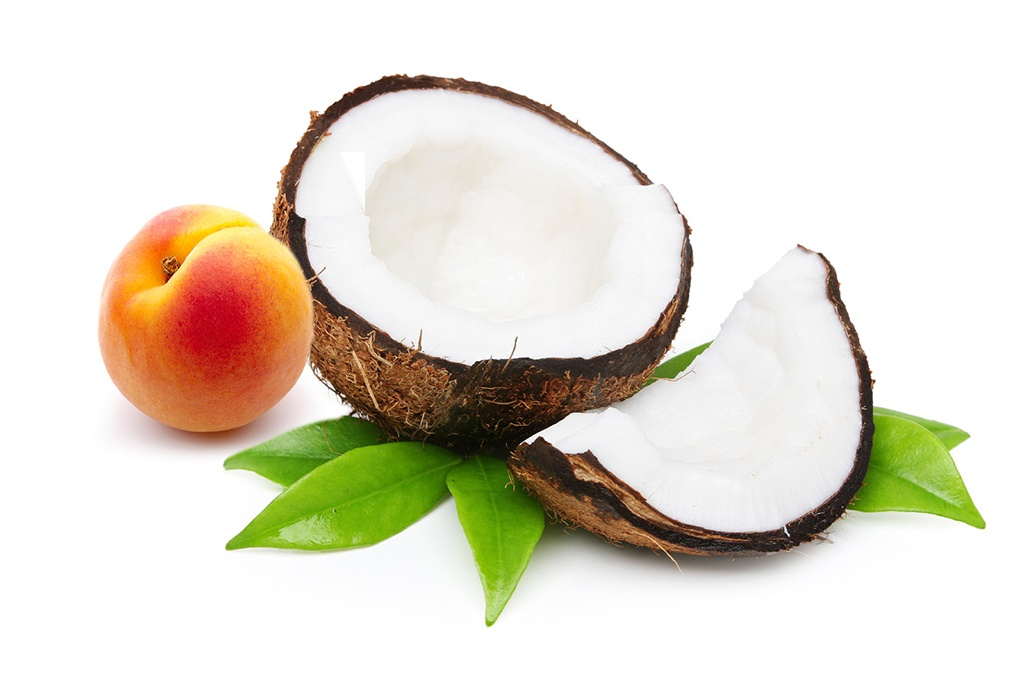 Apricot and coconut portions