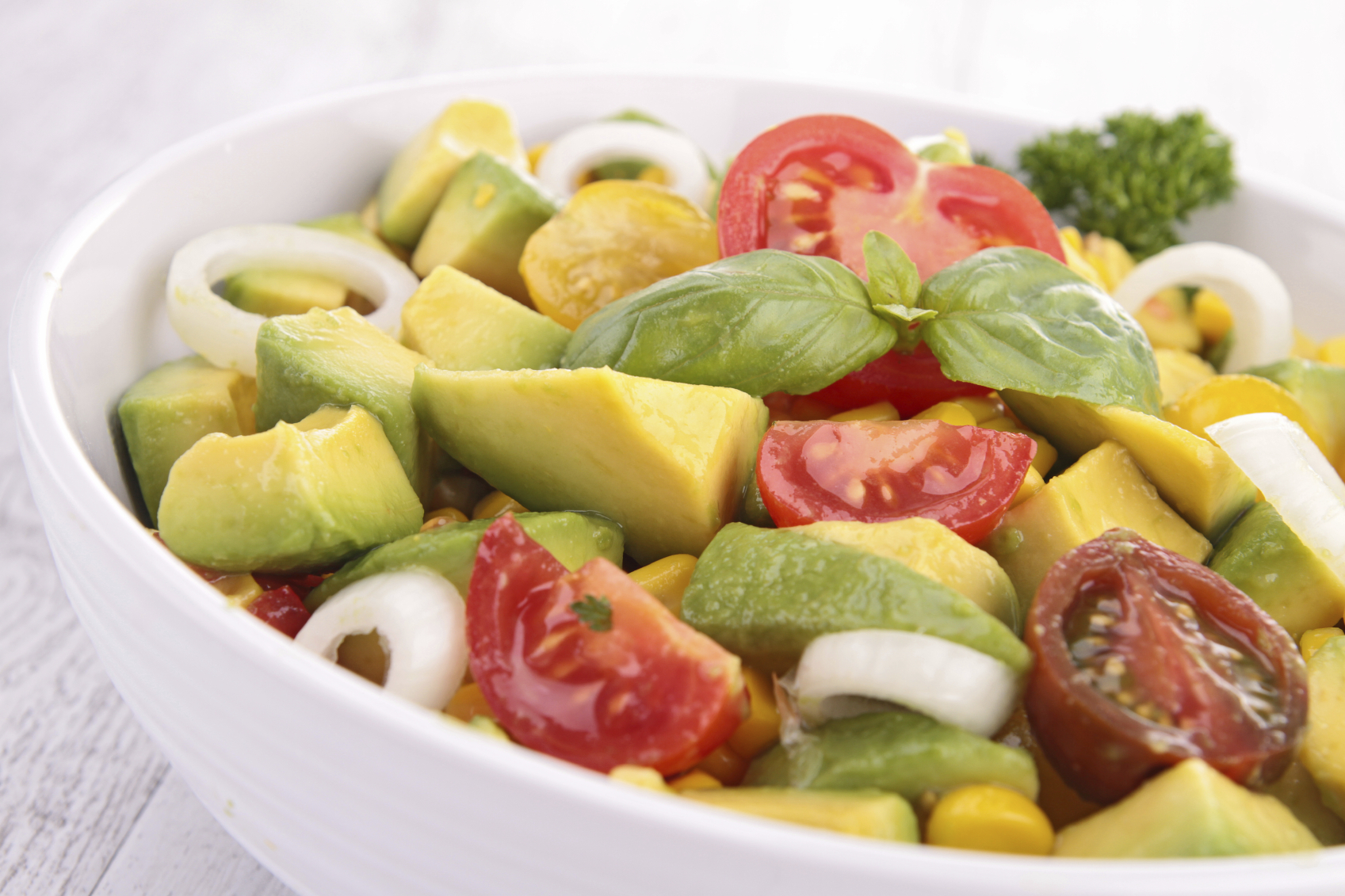 Avocado and feta salad - Insalata tal-avokado u feta bil-ħobż