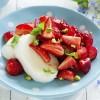 Mozzarella and strawberry salad