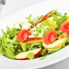 Rucola mint and apple salad