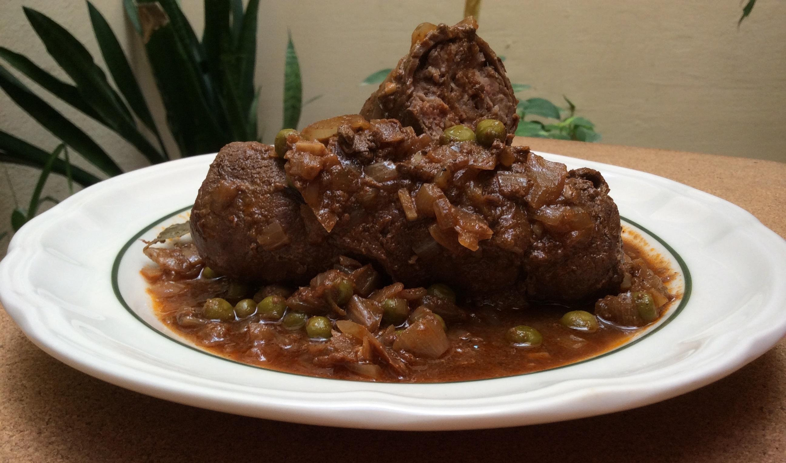 Beef olive stew-Stuffat tal-braġjoli