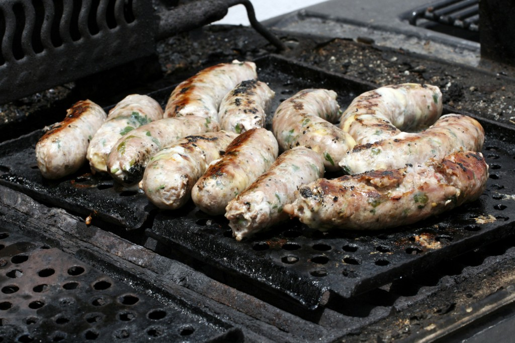 Maltese sausages on a barbecue