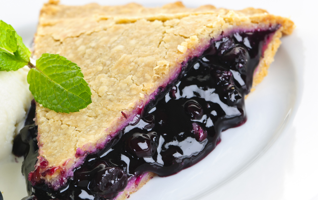 Black mulberry pie