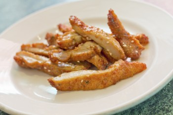Recipe: Chicken in sesame and garlic breadcrumbs