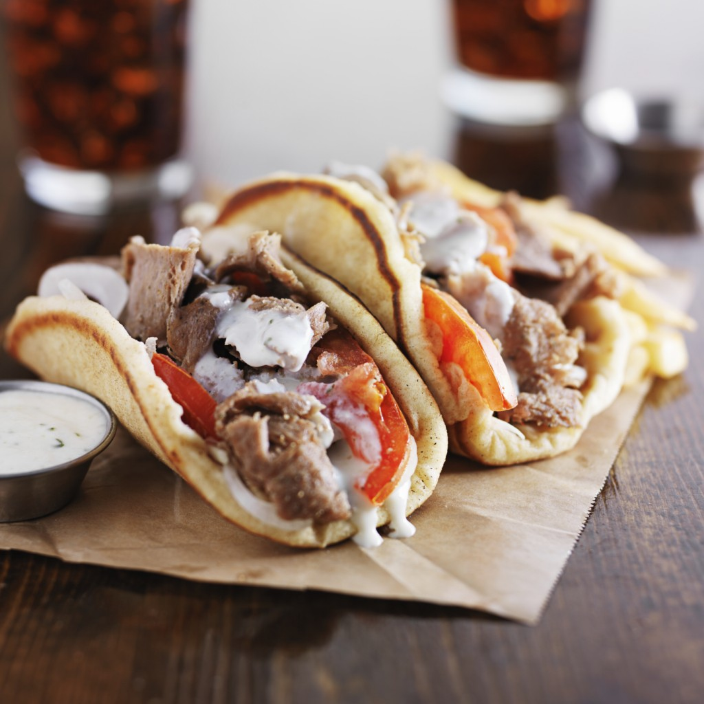 Greek lamb wraps