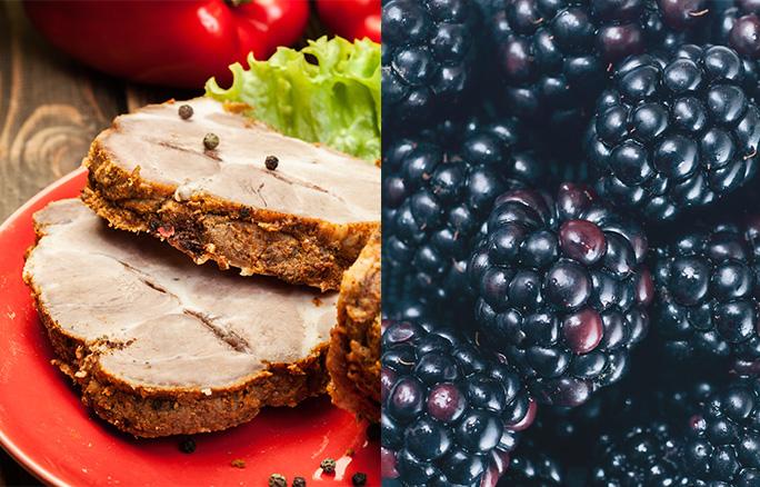 Pork-fillet-and-black-mulberries
