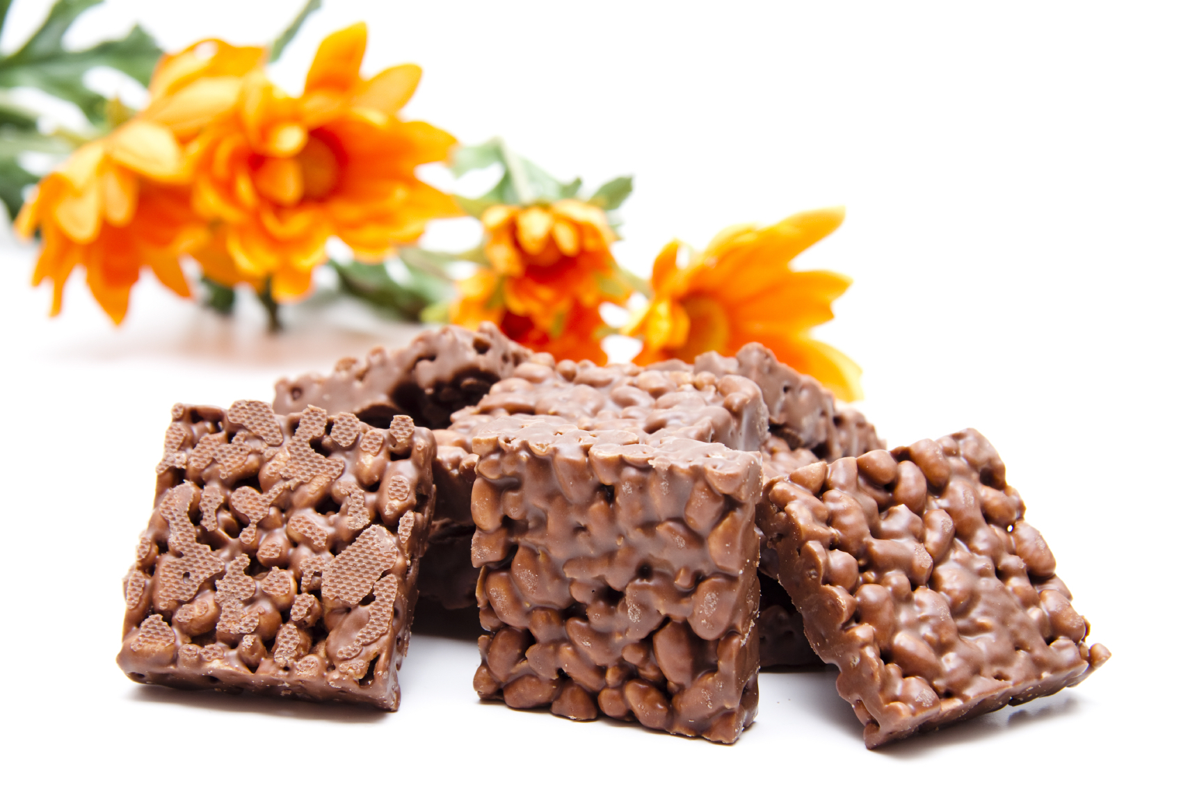 Rice chocolate bars