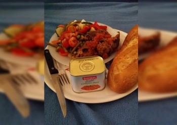 Recipe: Bully beef olives with sticky rainbow salad