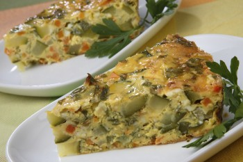 Vegetarian recipe: Vegetable pie with kale and without pastry