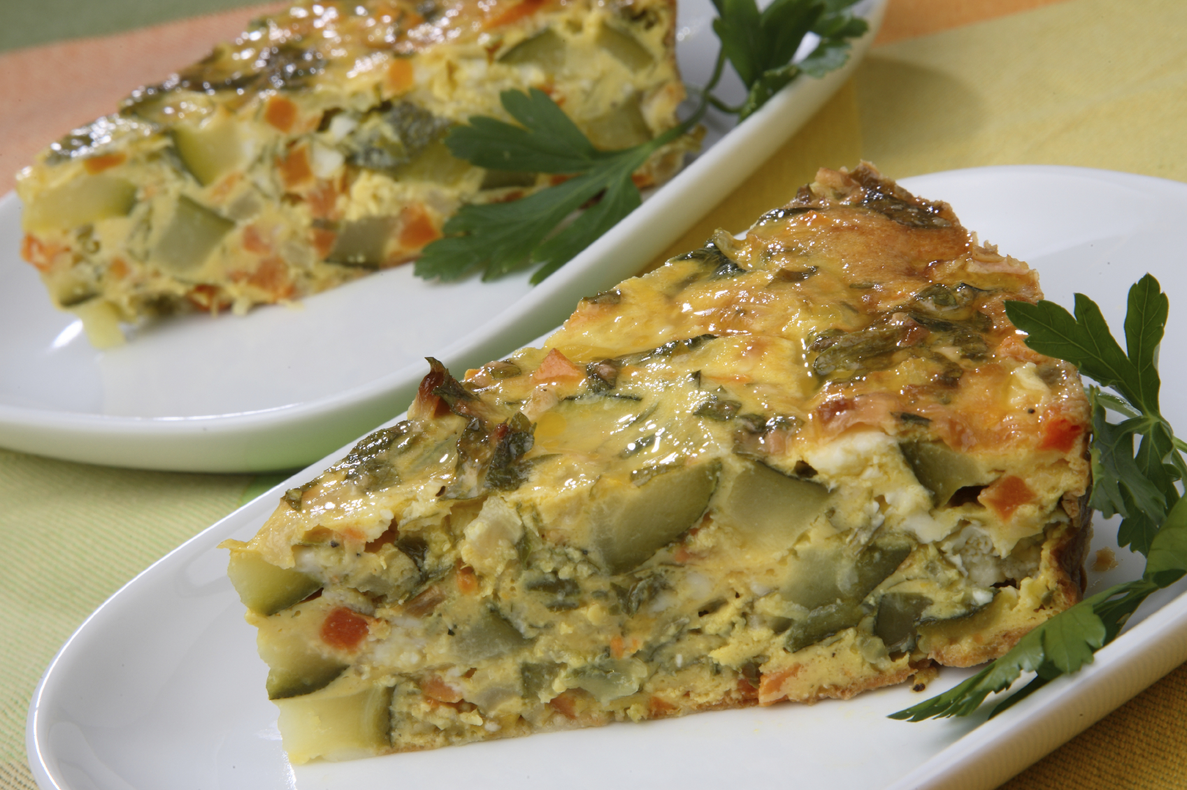 Vegetable pie without pastry