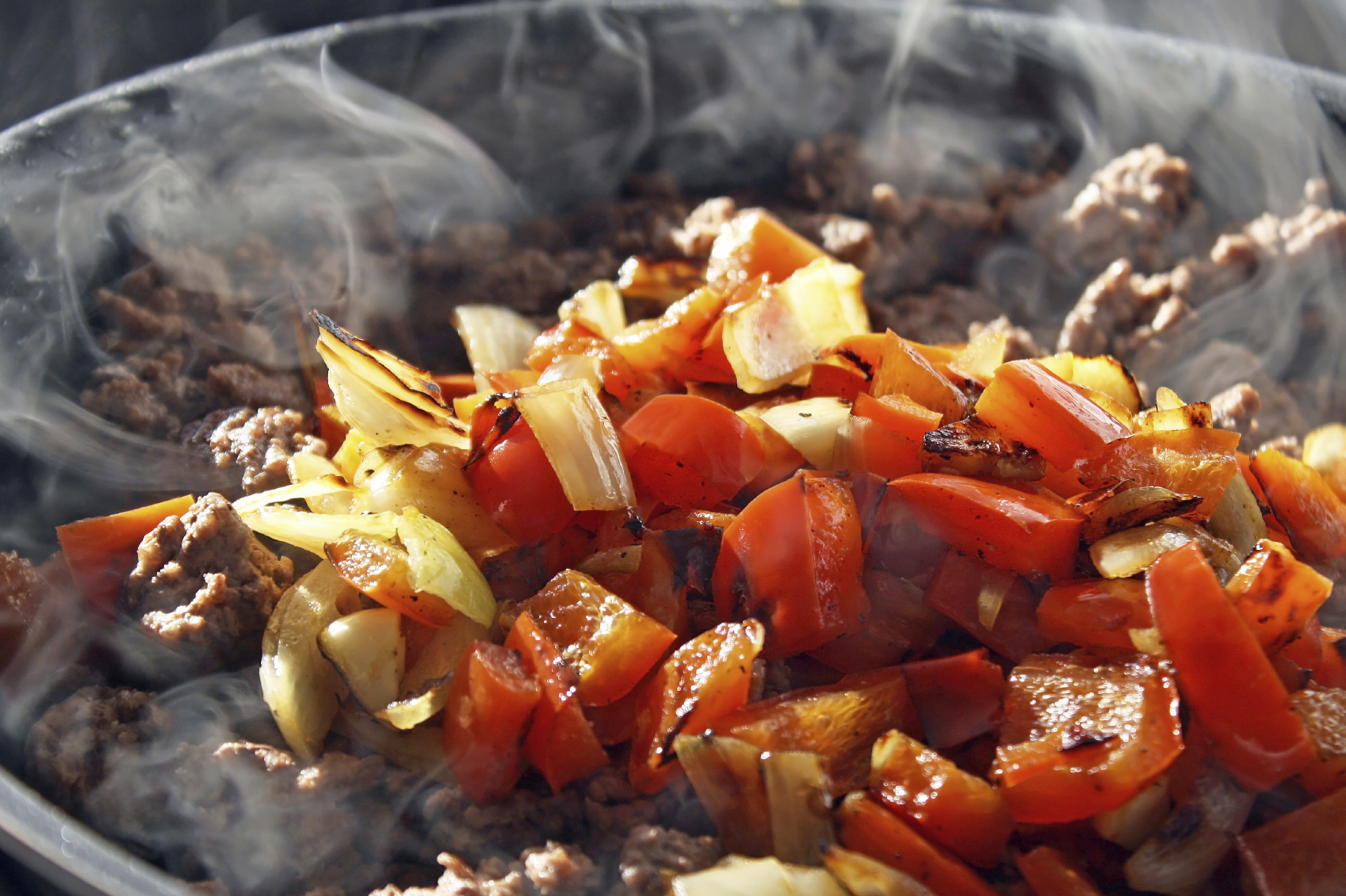 Beef and sweet peppers