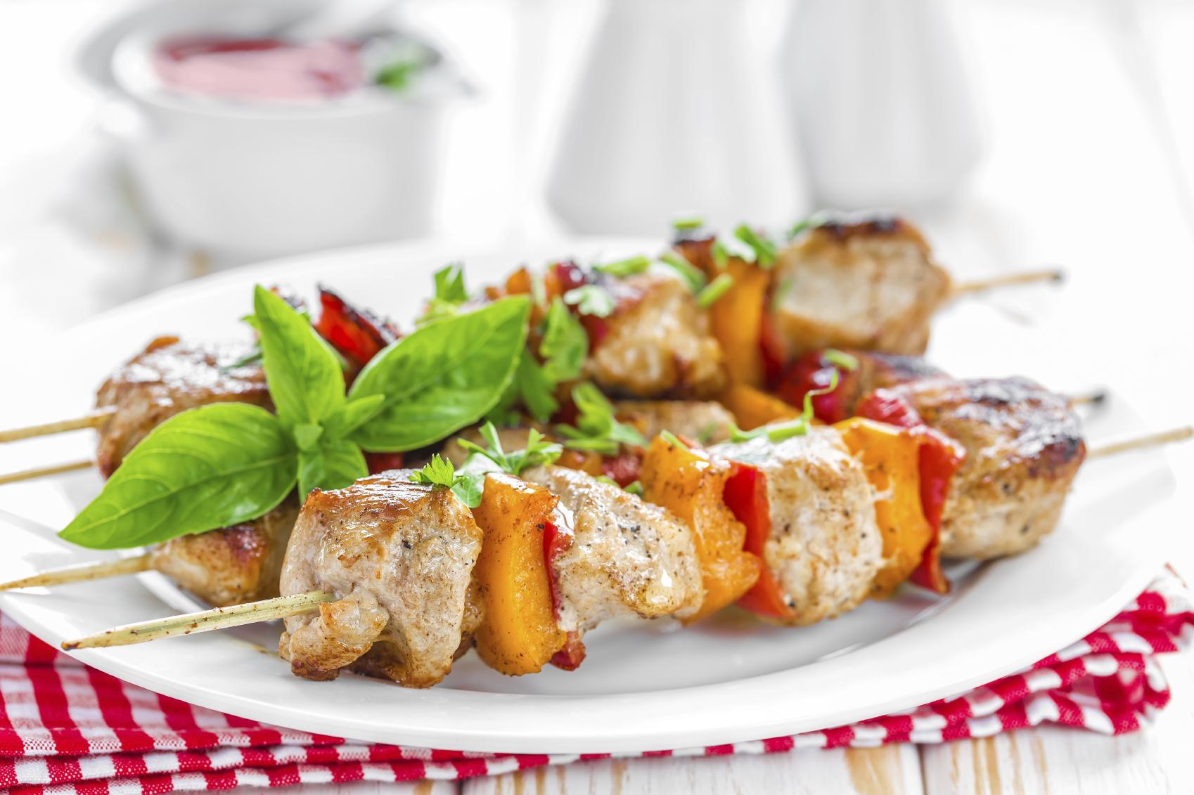 Beef kebab sticks