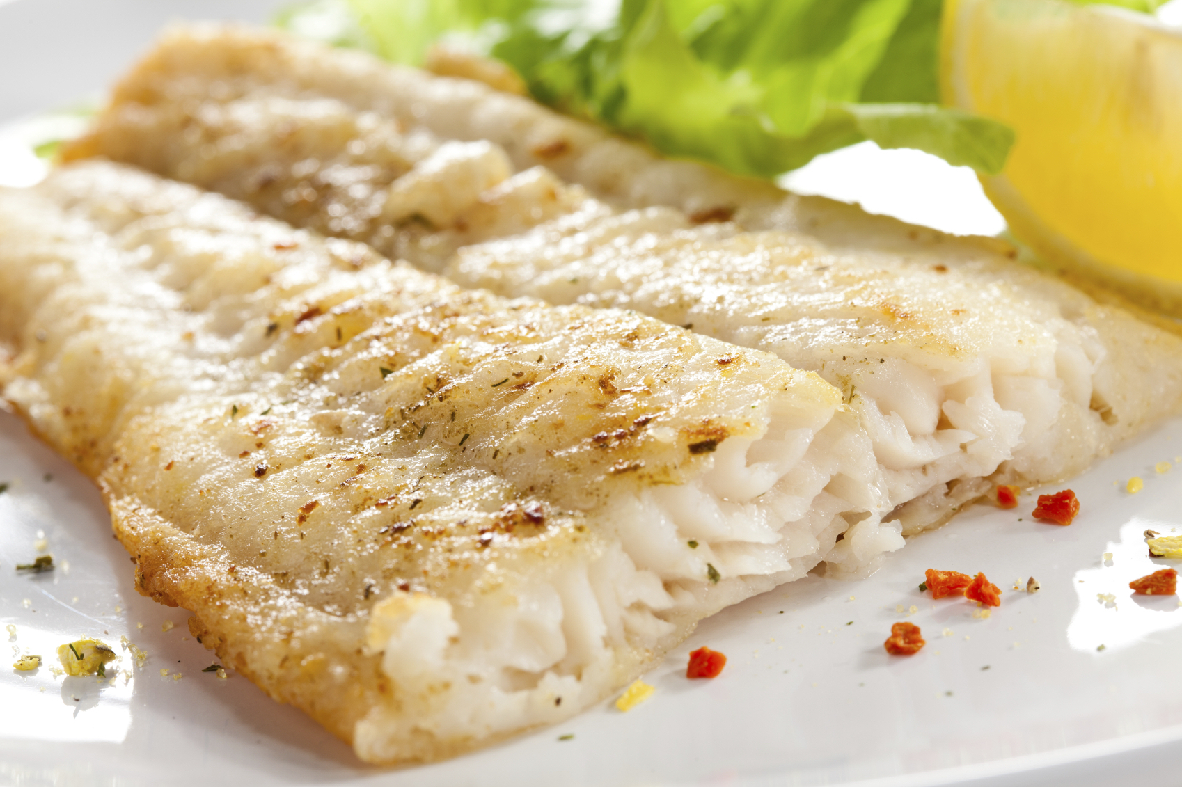 Cod with mustard and capers