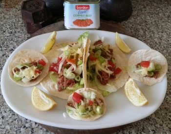 Recipe: Tacos with Bordon chilli con carne