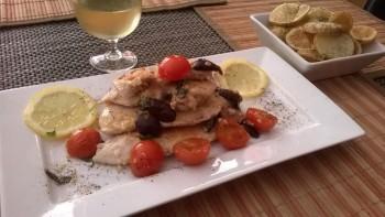 Recipe: Lemon marinated chicken, with black olives