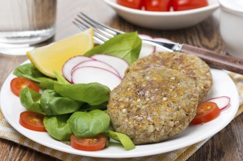 Lentil patty with coriander